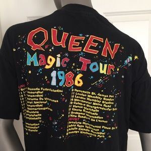Vintage Queen 1986 Tour Band Shirt